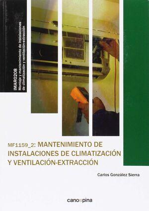MF1159 MANTENIMIENTO DE INSTALACIONES DE CLIMATIZACIÓN Y VENTILACIÓN-EXTRACCIÓN