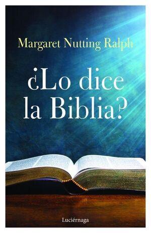 ¿LO DICE LA BIBLIA?