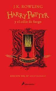 HARRY POTTER Y EL CALIZ DE FUEGO (EDICION GRYFFINDOR DE 20º ANIVE