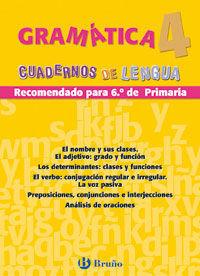 GRAMÁTICA 4 CUADERNOS LENGUA PRIMARIA