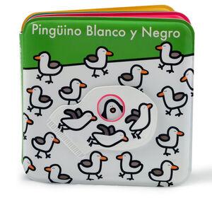 LIBRO DE BAÑO: PINGUINO BLANCO Y NEGRO