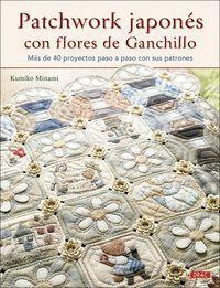 PATCHWORK JAPONÉS CON FLORES DE GANCHILLO